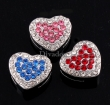 10- Swarovski® Crystals *Heart 2 colors* Vol strass schuiver 10 mm, in 2 kleuren