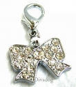 078- Be-Charm hanger *Strik vol strass* in Crystal Clear