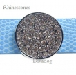95i Schuiver *Rond* vol strass, Rhinestone Crystal wit