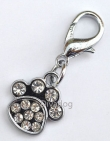 205- Be-Charm hanger *Honden pootje* in Prachig crystal strass