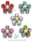Swarovski® Crystal Flower Slider in 5 kleuren