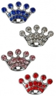 9- Swarovski® Crystals *Crown beauty* Vol strass schuiver 10 mm, in 4 kleuren