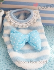 010a Sweater *Princess bleu pearl* maat: Teacup 22 cm,