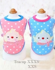 Sweater *Little Tweety* Teacup XXXS: past 18-22 cm...Maat XXS: past 21-25 cm