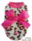 Sweater *Leopard/Hot pink* Teacup XXXS: past 21-25 cm...Maat XXS: past 24-28 cm