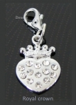 Be-Charm hanger *Heart Crown* vol crystal strass